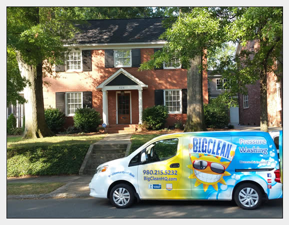Pressure Wash Brick House in Charlotte, NC
