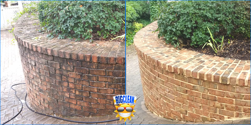 Masonry Cleaning Charlotte - Soft Brick Wall