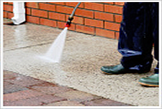 We provide deck and driveway pressure washing!