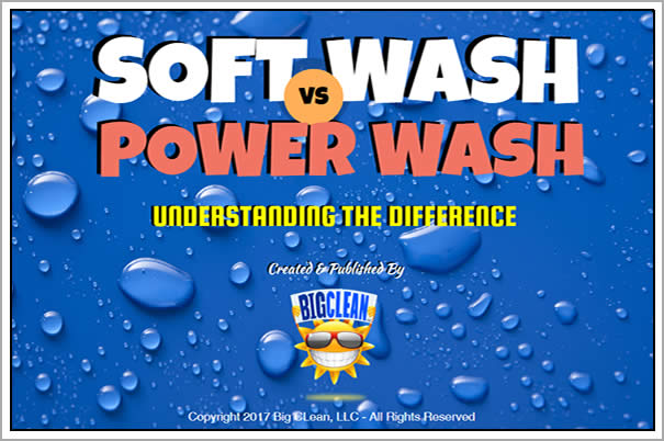 Soft Wash Vs. Power Wash by Big Clean HQ