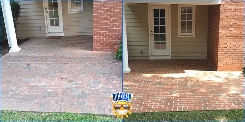 Power Wash Brick Patio