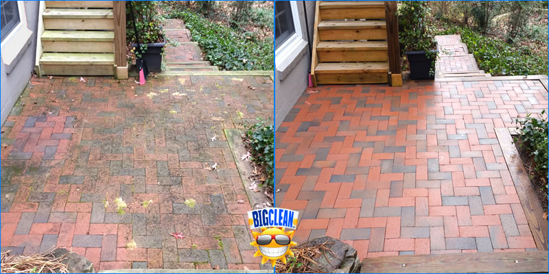 Brick Patio Cleaning Charlotte