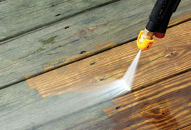 We provide pressure washing services