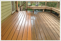 We pressure wash decks, patios, and more!